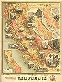 Historic 1890 Map | The unique map of California | California | MapsMaps of North America. | California