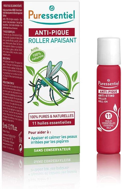 Puressentiel - Anti Pique - Roller Apaisant aux 11 Huiles Essentielles - Aide à apaiser et calmer les peaux irritées par les piqûres