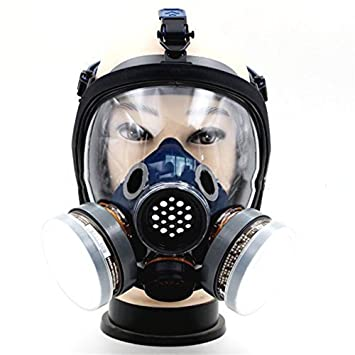 Máscara De Gas, Vapor, Pintura De Aerosol De Protección Completa, Químico, Anti