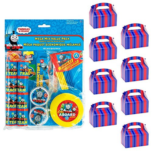 (BirthdayExpress Thomas The Train Party Supplies Filled Favor Box Kit (for 8)