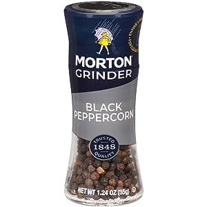 Morton Black Peppercorn Grinder, 1.24 Ounce Grinder (Pack of 6)