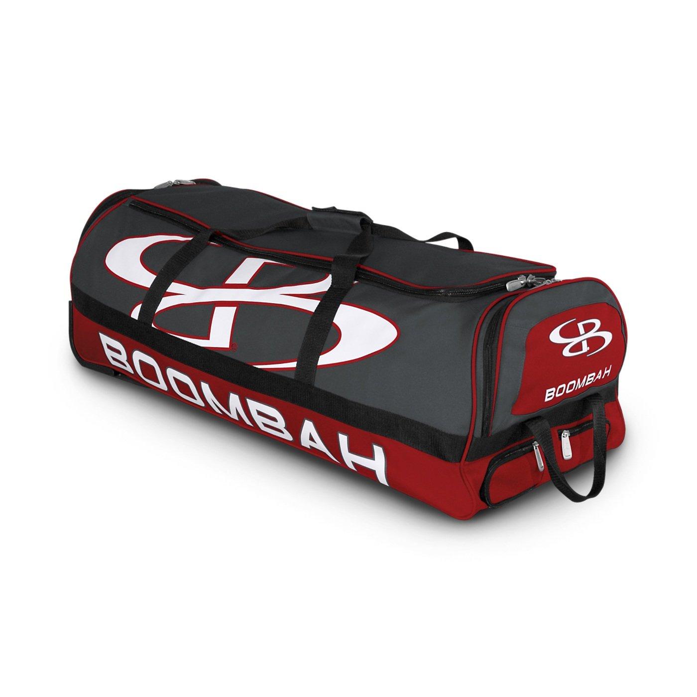 (ブームバー) Boombah Bruteシリーズ キャスター付きバットケース 野球ソフトボール用 35×15×12–1/2インチ 49色展開 4本のバットと用具を収納可能 B01MTU9YYCDark Charcoal/Red