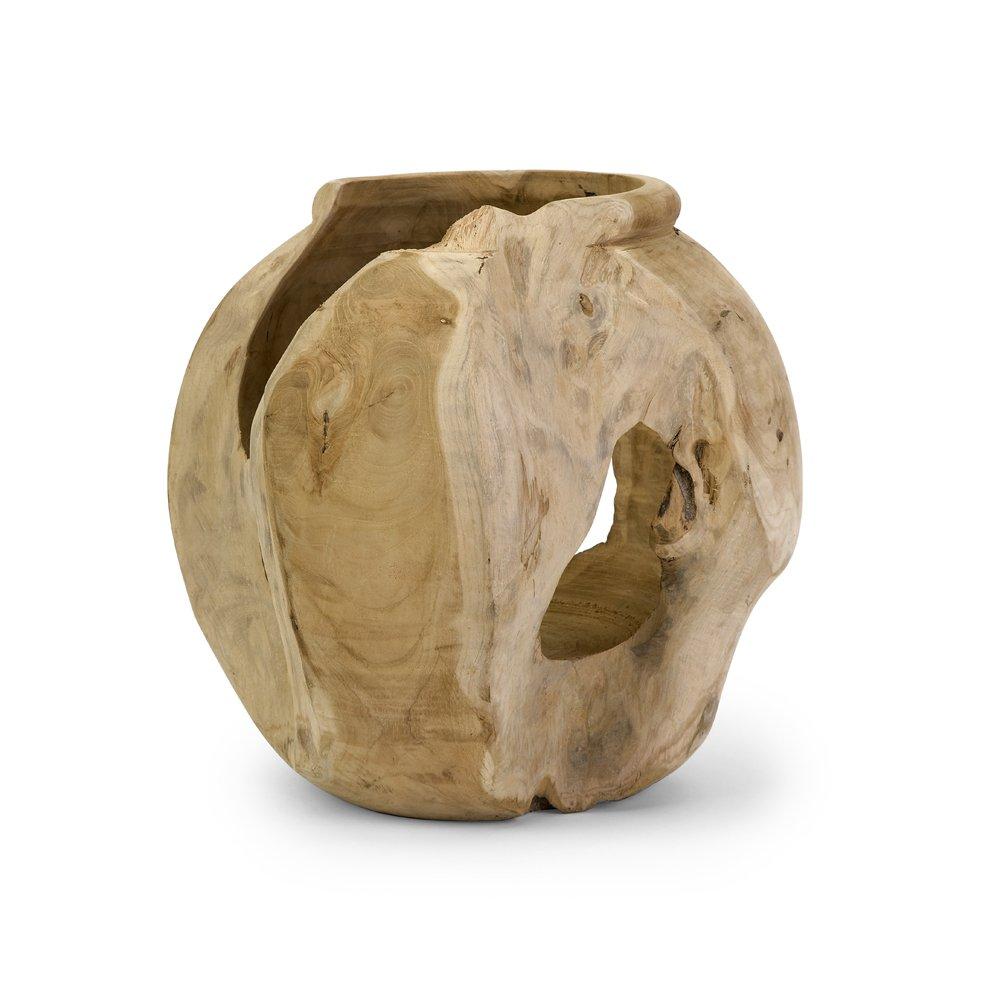 Imax 54111 Macaque Teakwood Vase