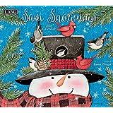 """Lang Wall Calendar """"Sam Snowman"""" Artwork by Susan Winget-12 Month-Open 13 3/8"""" X 24"""""""