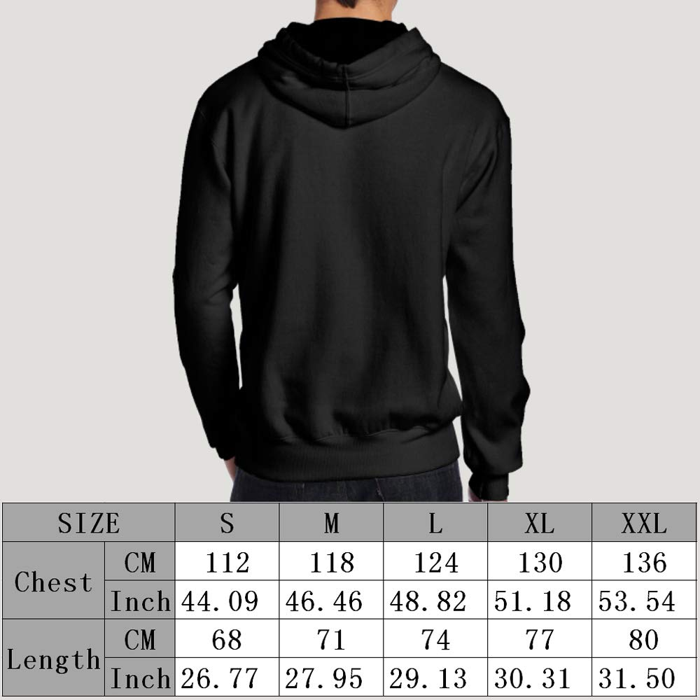 Love Softball Back Print Long Sleeve Hoodie for Men