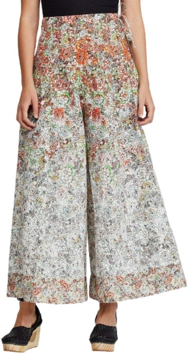 Free People Sugar Magnolia Cotton Floral-Print Wide-Leg Pants