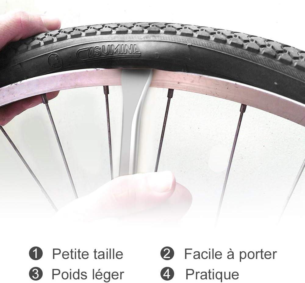 Démonte Pneu de Vélo Levier de Pneu en Plastique Portable Pratique pour Vélo