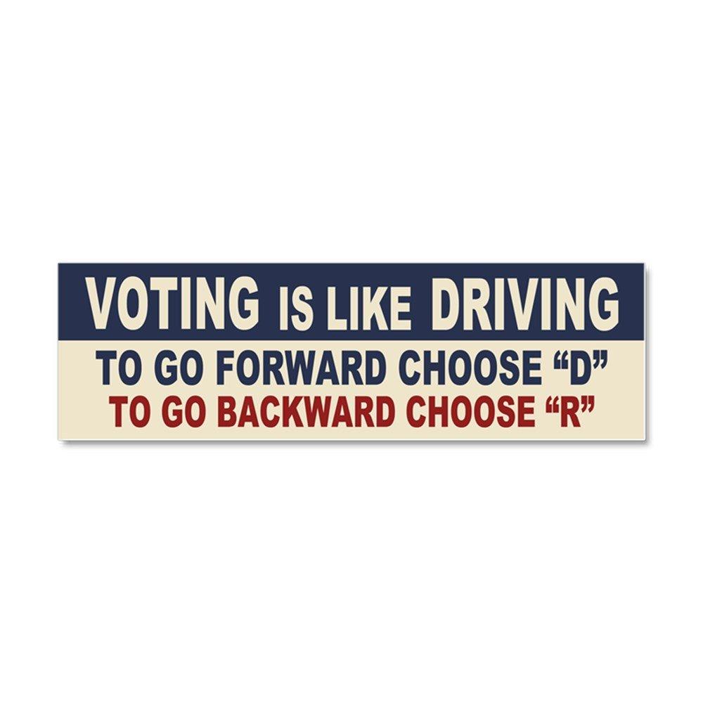Amazon com cafepress voting like driving car magnet 10 x 3 magnetic bumper sticker automotive