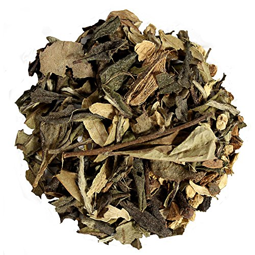 Capital Teas Organic Premium White Chai Tea Low Caffeine Helps Lower Cholesterol, 16 Ounce by Capital Teas