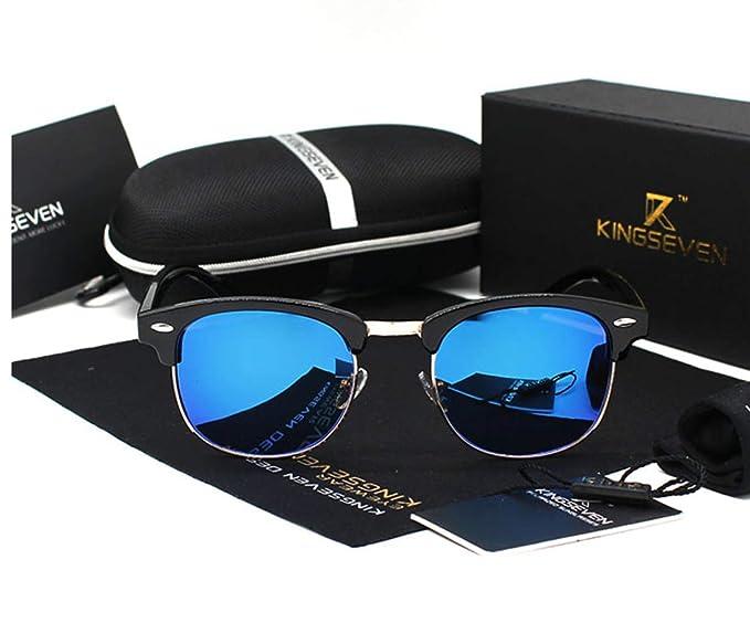 Gafas de sol espejo polarizadas de moda clásicas retro marco metálico excelente calidad para mujeres y