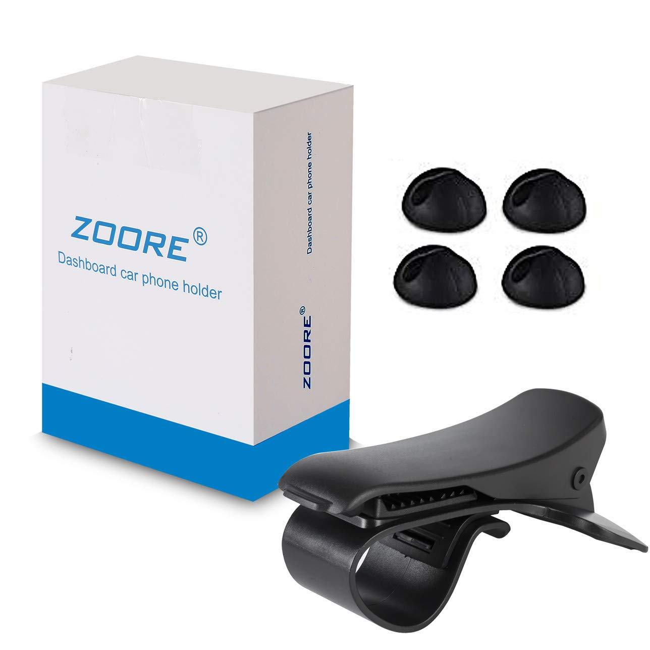 ZOORE Support Téléphone, Support Téléphone Voiture GPS HUD, Fixation Automobile sur Tableau de Bord Support pour Compatible iPhone X/8/8P/7/7P/6s/6/6P, Huawei, Samsung, HTC - Noir