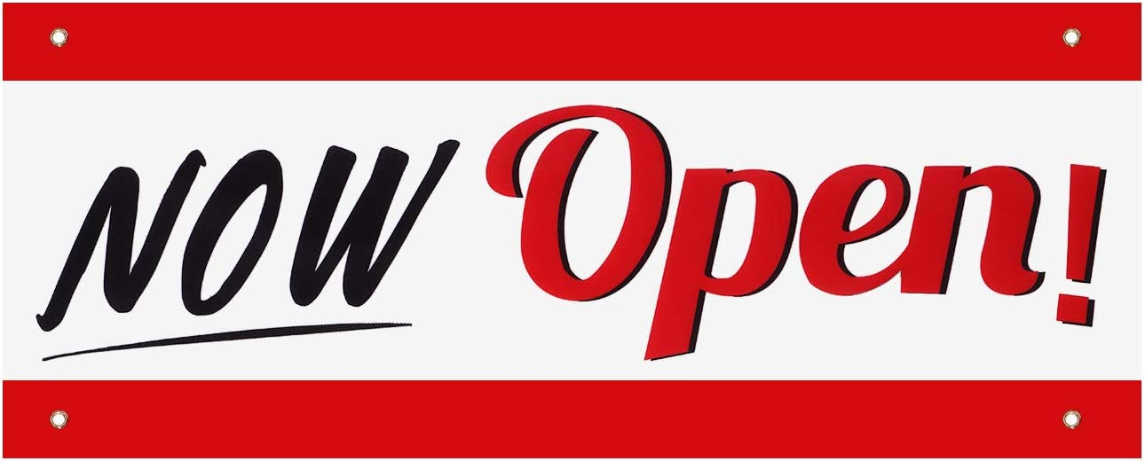 Now Open Banner Sign Business Heavy Banne Flags Ranking TOP13 Duty Vinyl Deluxe