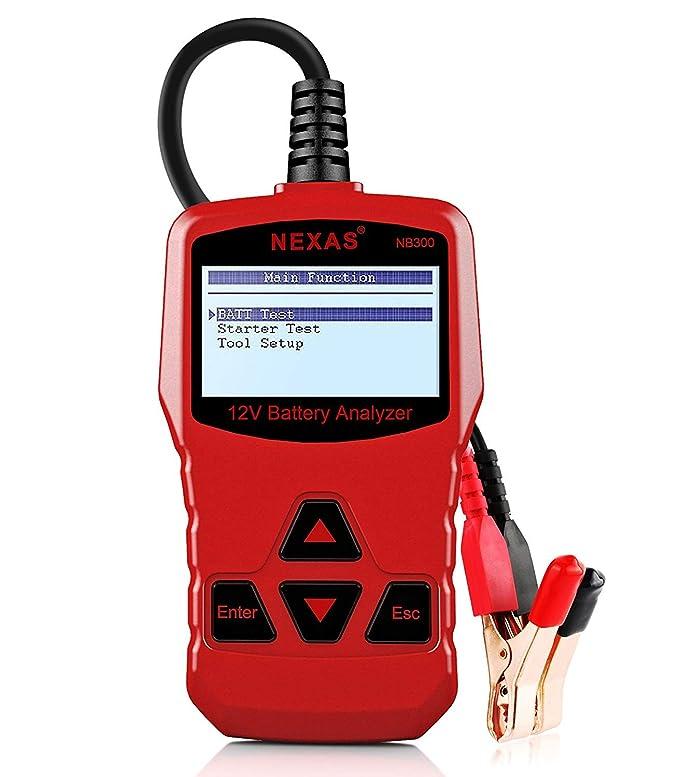 Comprobador de baterías Nexas NB300, analizador de baterías para coches de 12 V, verificación de la batería, arranque, salida de voltaje, diagnóstico de ...