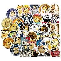 50 stks Dogecoin Stickers Cool Space Astronaut Doge Decal Sticker Speelgoed Voor DIY Notebook Skateboard Laptop Gitaar…