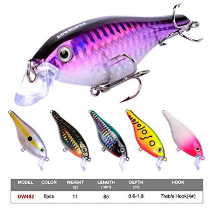 Proberos Crankbaits Set Lure Fishing Hard Baits Swimbaits Boat Ocean  Topwater Lures Kit Fishing Tackle Hard Baits Set for Trout Bass Perch  Fishing