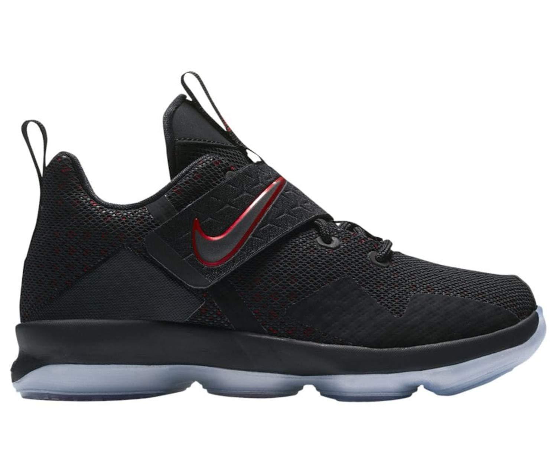 NIKE Kid's Lebron XIV GS Basketball Shoes (Black/Black/University Red, 7 Big Kid US) by Nike (Image #1)
