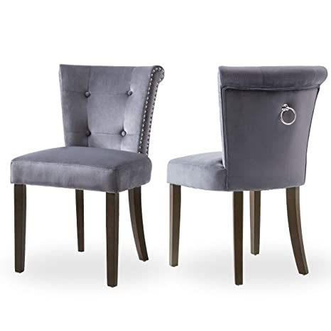 Admirable Harper Bright Designs Victorian Dining Chair Button Tufted Armless Chair Upholstered Accent Chair With Nailhead Trim Chair Ring Pull Set Of 2 Gmtry Best Dining Table And Chair Ideas Images Gmtryco