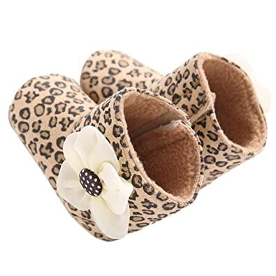 Baby Shoes, Egmy Baby Girl Soft Sole Leopard Print Flower Keep Warm Socks Shoes Snow