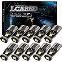 10-Pack LCARED 194 Extremely Bright Interior Car Lights LED Bulb 3030 Chipset for Xenon White T10 168 194 2825 Car Interior Dome Map Door Courtesy License Plate Light