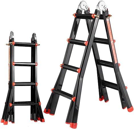 Escaleras multifunción de Uso doméstico Plegable Escalera telescópica aleación de Aluminio Engrosamiento Escalera Escalera de elevación Escalera de ingeniería Escaleras de Mano: Amazon.es: Hogar