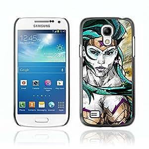 A-type Arte & diseño plástico duro Fundas Cover Cubre Hard Case Cover para Samsung Galaxy S4 MINI / i9190 / i9192 ( Wonder Woman Ilustración )