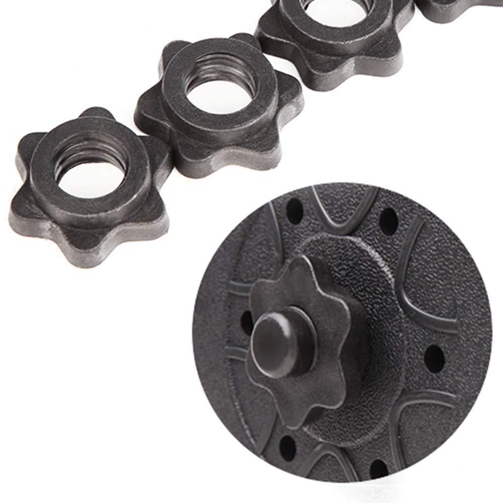 n// a 2 pairs 4Pcs Vinyl Spinlock Collars For 1 Standard Barbells Bars Sports