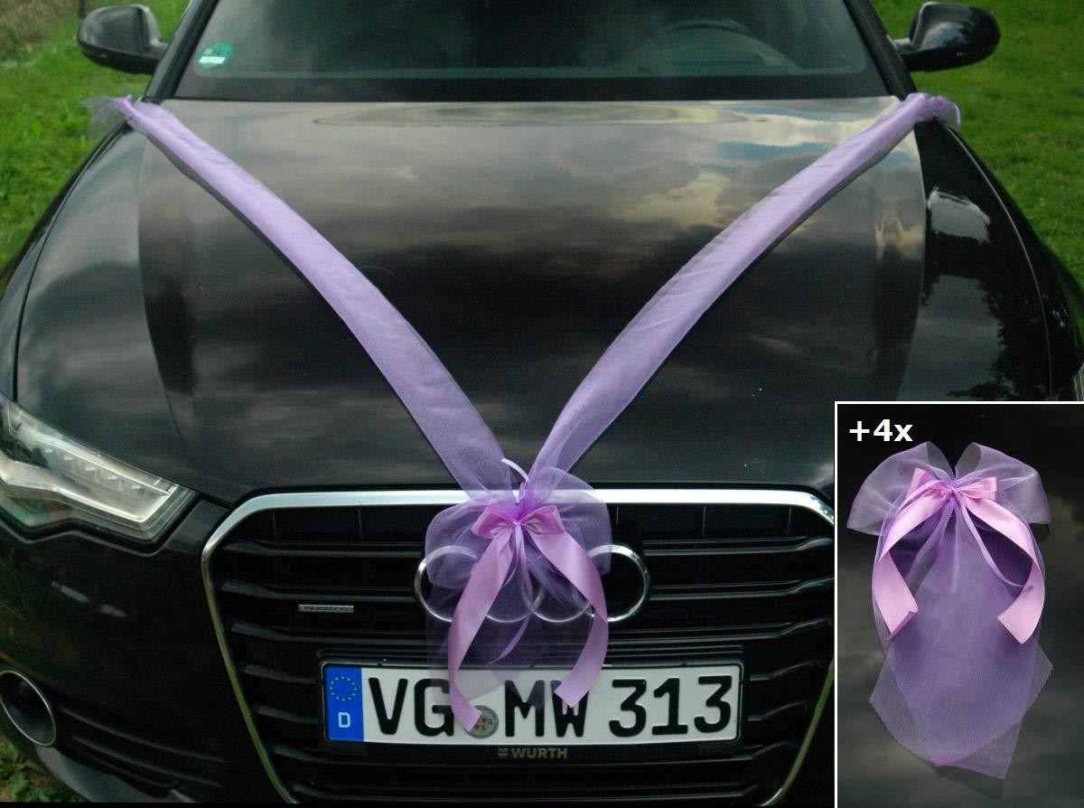 Varianten Auto Schmuck Braut Paar Rose Deko Dekoration Autoschmuck
