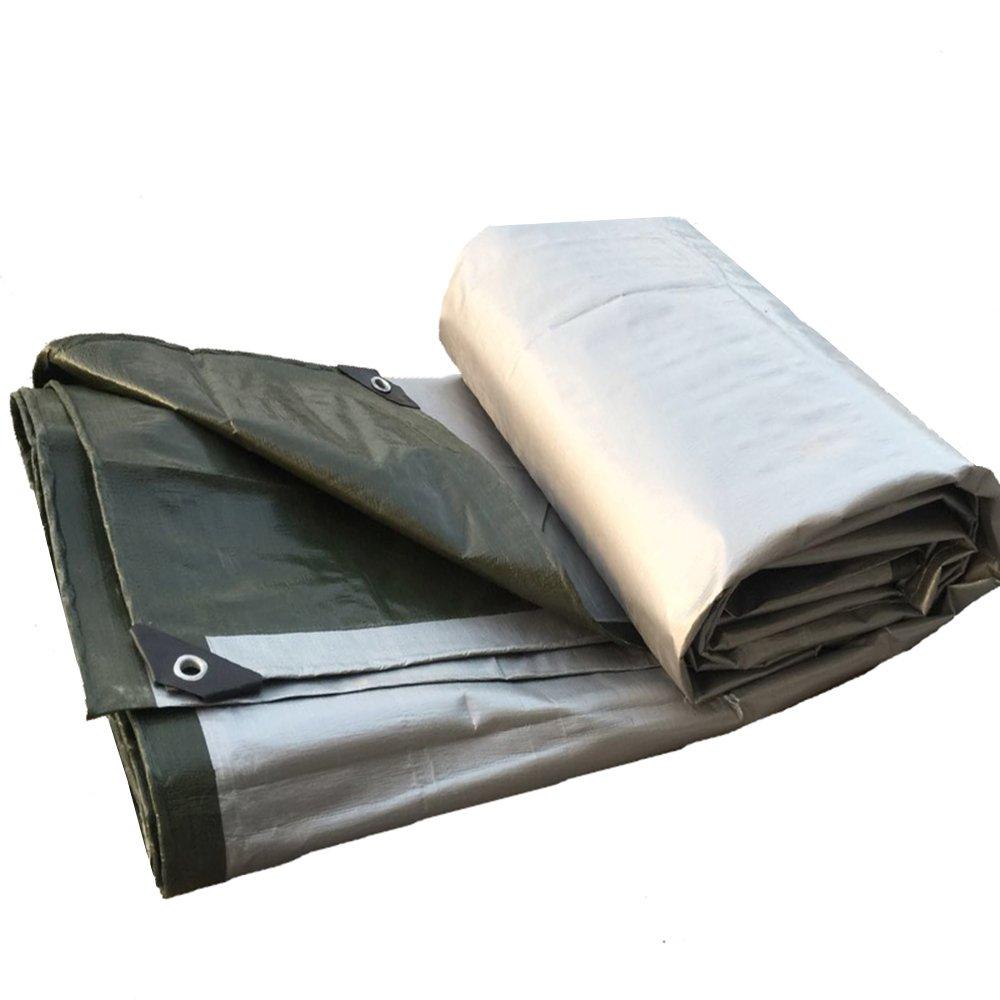 Pengbu MEIDUO Awning, Canopy Mehrzweckwasserdichter Plane-Abdeckungs-Hochleistungs-Silber Dunkelgrün 160g m² Stärke 0.35mm für Draußen B07F874RS8 Abspannseile Globale Verkäufe