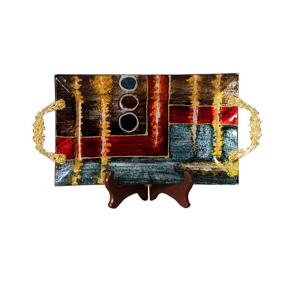 KDJHP ヨーロッパのクリスタルガラスフルーツプレート家庭用モダンなリビングルームのコーヒーテーブルフルーツプレート工芸キャンディプレート装飾フルーツプレート -フルーツバスケット (サイズ さいず : Large) Large  B07PJD9FTJ
