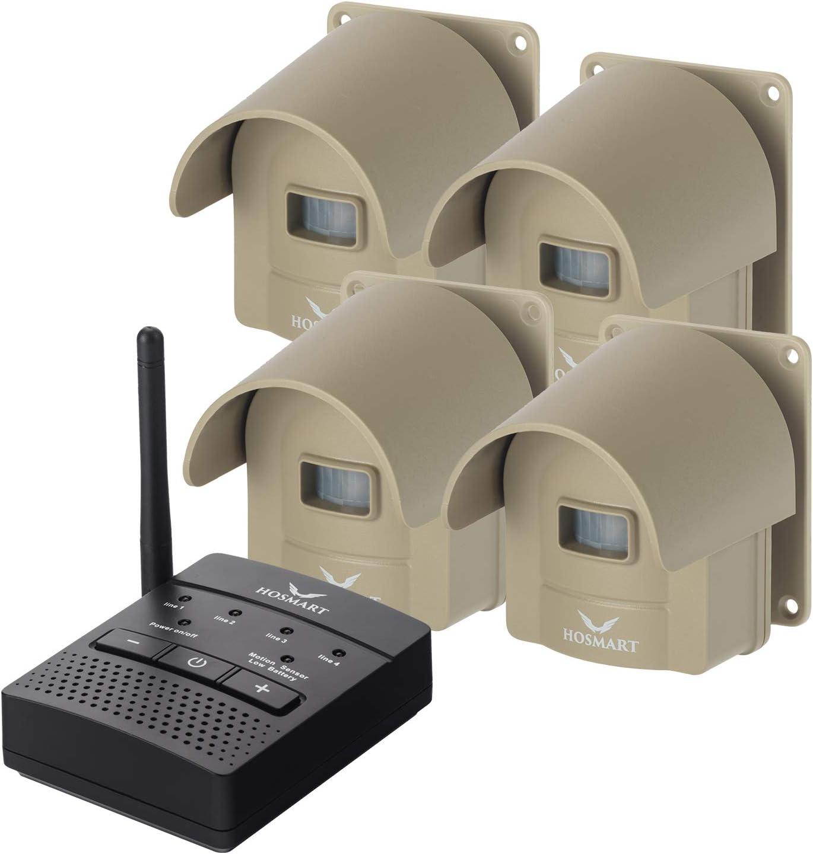1 4 Mile Hosmart Rechargable Driveway Alarm Wireless Sensor System Driveway Sensor Alert System Weatherproof Security Outdoor Motion Sensor Detector