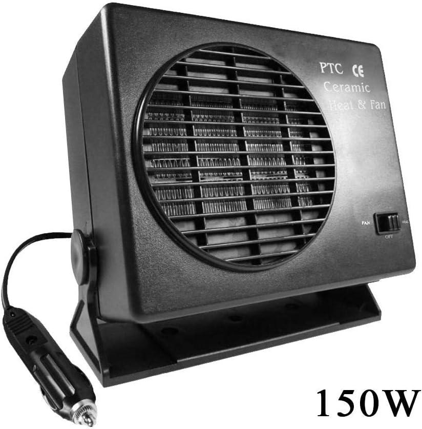 12 V Kfz-Heizl/üfter aus Keramik f/ür Auto LKW Ventilator tragbar Fenster Entfroster 150 W 300 W 2 in 1 Heizung K/ühlfunktion Windschutzscheibe Entfroster 300 W