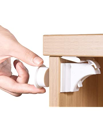 Türriegel Schranksicherung Verriegelung Baby Schrankverschluß für Schrank Türen