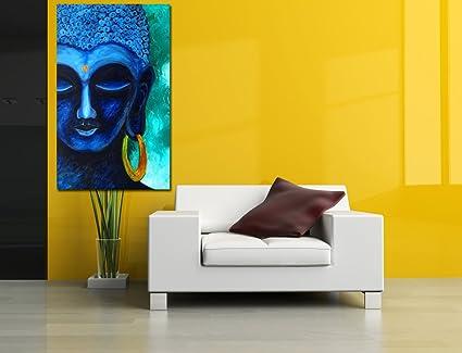 Canvas Buddha Art, Digital Print on canvas, Portrait, Abstract Art ...