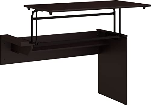 Bush Furniture Cabot 42W 3 Position Sit to Stand Desk Return in Espresso Oak