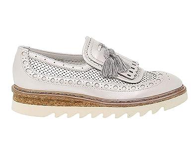 665f1122d3b6a9 Barracuda Femme BD0741 Blanc Cuir Mocassins: Amazon.fr: Chaussures ...