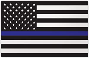 """Refrigerator Magnet - Large Size - Thin Blue Line United States Flag - Police Officers, Law Enforcement, Cops - 8.5"""" x 5.5"""""""