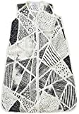 Aden and Anais Midnight Silky Soft Muslin 0.5 TOG Sleeping Bag, Black, White, X-Large