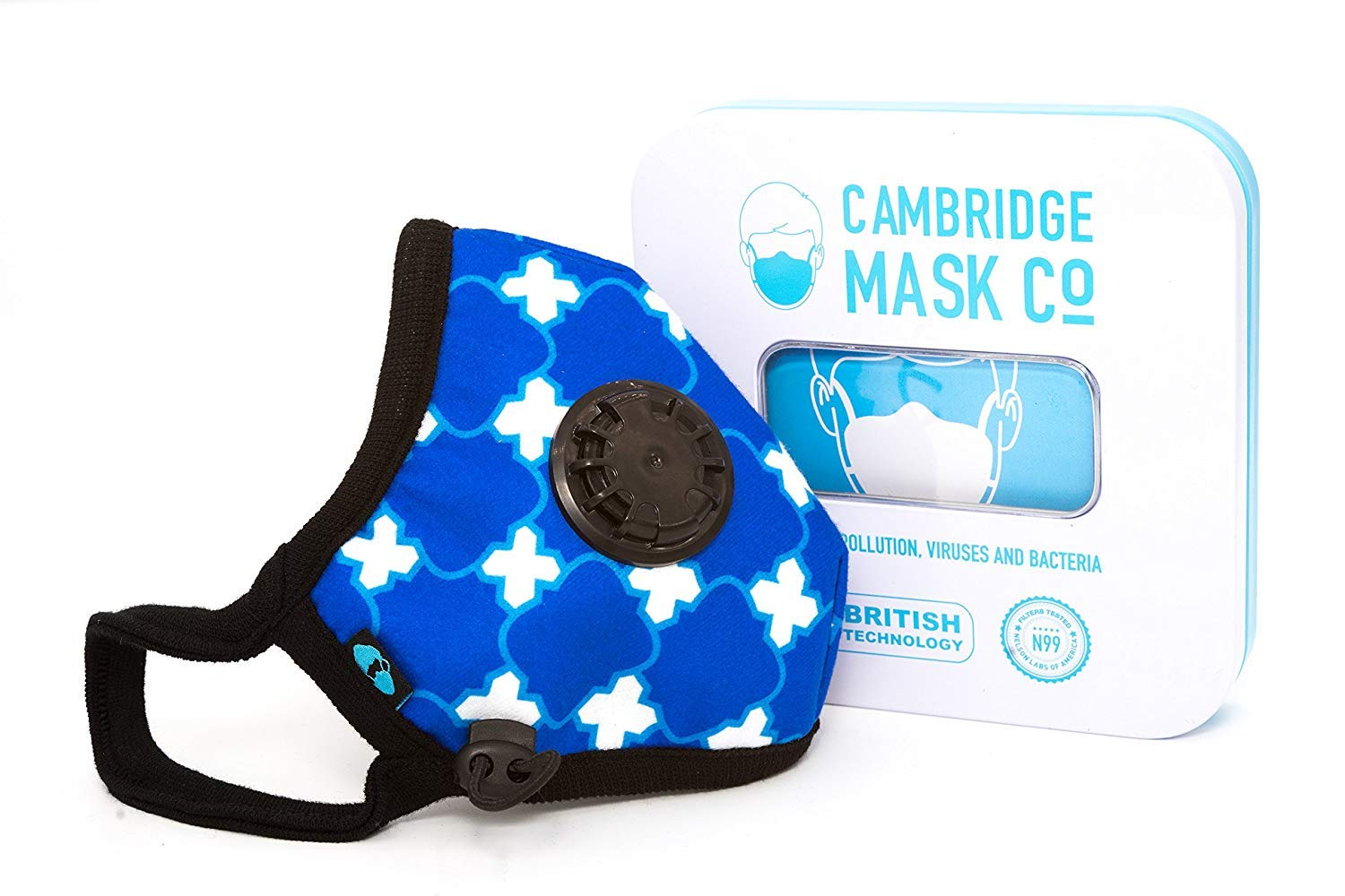 Cambridge Mask Co Pro Anti Pollution N99 Washable Military Grade Respirator with Adjustable Straps - Wedgewood S Pro by Cambridge Mask Co (Image #3)