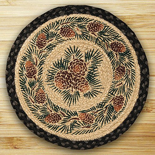 Round Pinecone - Heart of America 15.5in. x 15.5in. Pinecone Round Chair Pad