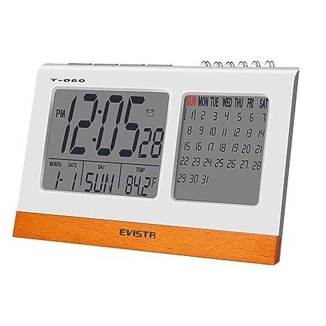 EVISTR Reloj Digital Grande Pantalla - Reloj de Escritorio ...