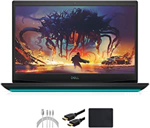 "Latest_Dell_G5 15 15.6"" FHD Gaming Laptop PC, i7-10750H (up to 5.0 GHz, 6 cores), 16GB RAM, 256GB PCIe SSD, Backlit Keyboard, Bluetooth, HDMI, GTX 1650Ti, Win 10 Home with Santax Accessories"