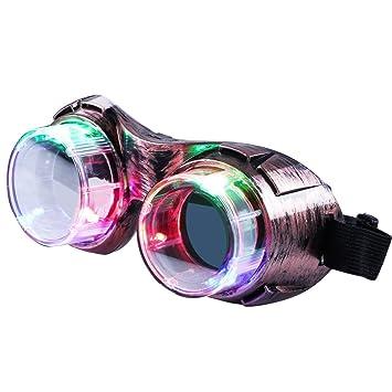 Aomeiqi Light Up Gafas, Flashing Gafas para Ni?os Adultos LED Toy Gafas de Viento para el Partido Halloween Rave, Bronce: Amazon.es: Juguetes y juegos