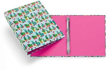 Archivador 4 Anillas Agatha Ruiz de la Prada Cactus: Amazon.es: Oficina y papelería