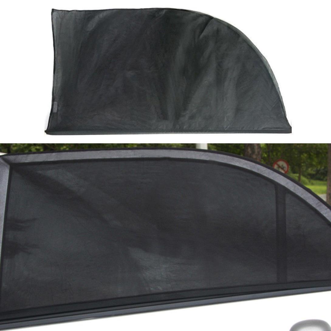 Quaant Car Sun Shade,2X Car Side Rear Window UV Mesh Sun Shades Blind Kids Children Sunshade Blocker Black Shield (Black)