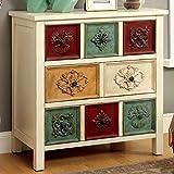 Furniture of America Floresta Antique White 8-drawer Hallway Cabinet