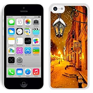 Fashionable Custom Designed iPhone 5C Phone Case With Moscow Winter At Night_White Phone Case