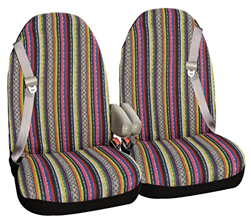 Allison 67-2220 Multi-Color Large Prairie Stripe SUV Bucket Seat Cover - Pair (Seat Chair Captains Covers)