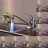 LED Faucet,WensLTD LED Tap Faucet Light Temperature Sensor 7 Color Changing Water Stream Glow Lamp