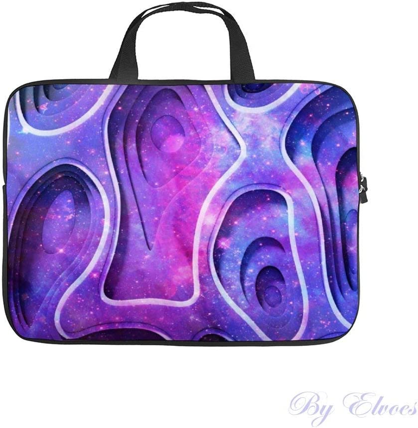 Blue /& Purple Digital Abstract Laptop Sleeve Bag Notebook Computer PC Neoprene Protection Zipper Case Cover 15 Inch Teal
