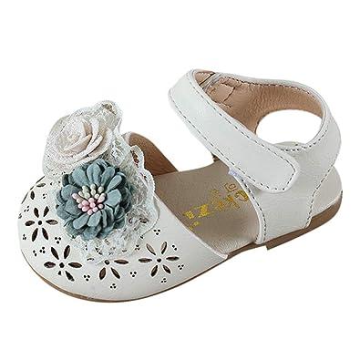 97a0342b4ca43 ALIKEEY Enfant en Bas âGe Enfants BéBé Filles Douce éLéGante Perle Fleur  Princesse Chaussures Sandales Bout